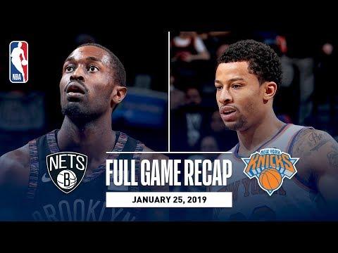 Video: Full Game Recap: Knicks vs Nets | Trey Burke Scores 25 Points