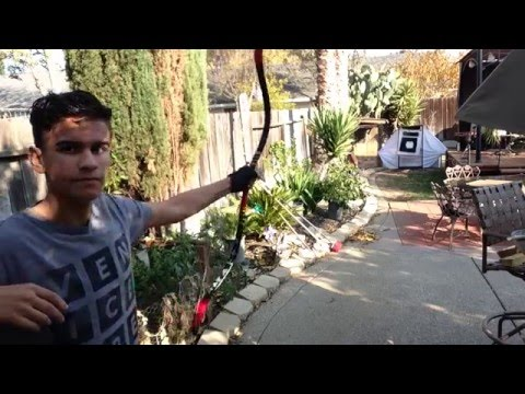 Shooting the PVC Korean bow from WAR OF THE ARROWS
