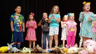 The best Kindergarten performance ever. This is a snippet of the play and I accidentally loaded some of the songs twice.