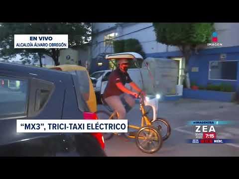 Prototipo de triciclo eléctrico circulará en la CDMX   Noticias con Francisco Zea