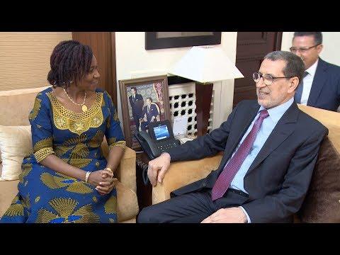 رئيس الحكومة يستقبل وزيرة الشؤون الخارجية والتعاون الدولي بجمهورية سيراليون