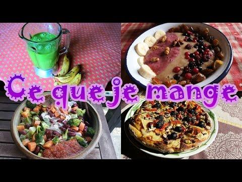 Ce que je mange matin, midi et soir: repas représentatifs