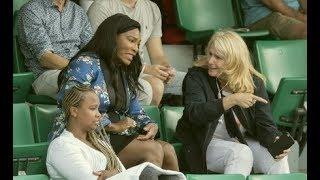 Serena Williams still hitting balls
