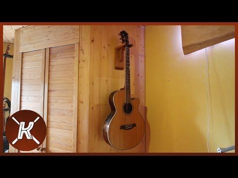 Gitarrenwandhalterung selbst gebaut || Philipp Konter