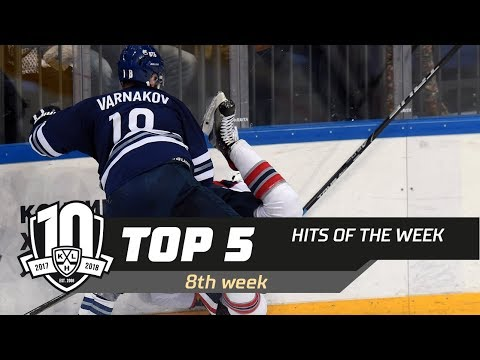 17/18 KHL Top 5 Hits for Week 8 (видео)