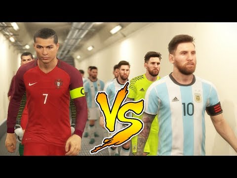 Team Messi VS Team Ronaldo - PES 2018 Experiment