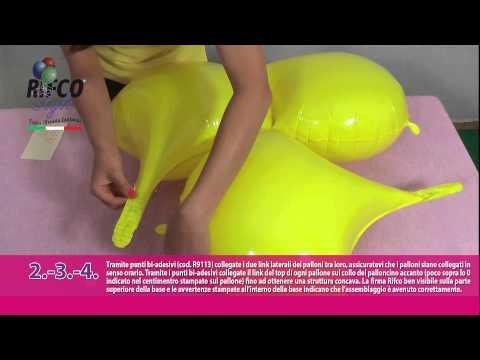Come realizzare una base decorativa conchiglie con i palloncini foil PiùBravo