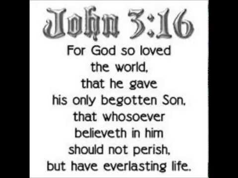 Actually believing John 3:16.