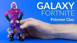Galaxy Skin & Green Screen Clay (Fortnite Battle Royale) – Polymer Clay Tutorial