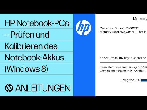 HP Notebook-PCs -- Prüfen und Kalibrieren des Notebook-Akkus (Windows 8)