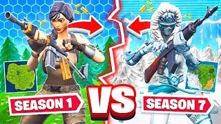 SEASON 1 vs SEASON 7 *NEW* Game Mode in Fortnite Battle Royale