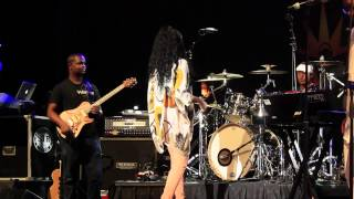 Monica at Shannon Brown Wood-Star Music Festival Pays Tribute to Whitney Houston 2012 pt 3 - YouTube