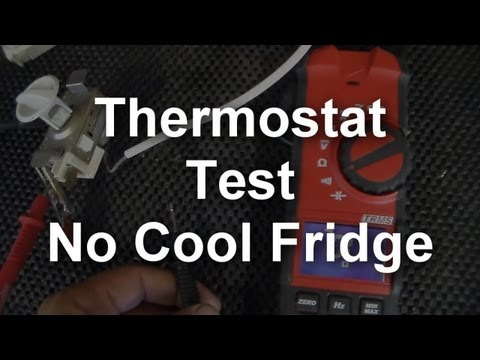 No Cool Refrigerator - How to test the Thermostat