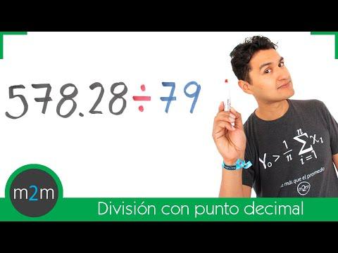 Division von Zahlen mit Dezimalpunkt