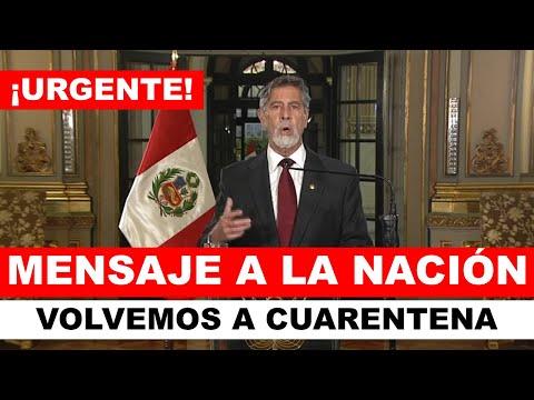 ¡LO ÚLTIMO! Presidente Sagasti anuncio NUEVO CONFINAMIENTO EN EL PERÚ   CUARENTENA TOTAL   26 ENERO