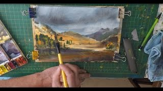 How To Paint Mountains and Sky Blea Tarn Lake District