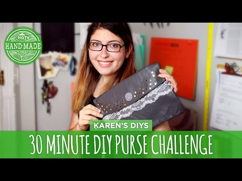 Minute - We know how much you guys love the DIY challenges, so today Karen and Meg take on the 30 Minute Purse Challenge! Watch Karen and Meg's collab video on Karen's channel: https://www.youtube.com/watch...