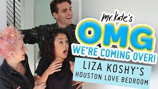 Liza Koshy's Houston Love Bedroom Makeover | OMG We're Coming Over | Mr. Kate