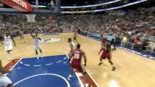 LeBron James Reverse dunk vs Sixers