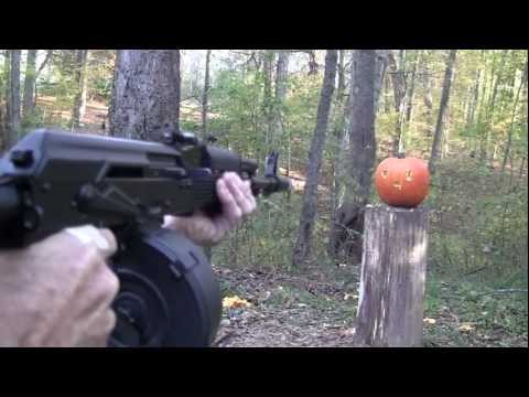 III - Yep, it's pumpkin carving time again, and certainly by now you all know how we do it at the Hickok45 Compound. This year's pumpkin carver is an Arsenal SGL 2...