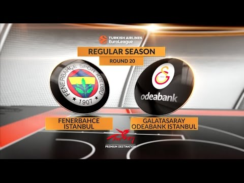 EuroLeague Highlights RS Round 20: Fenerbahce Istanbul 85-80 Galatasaray Odeabank Istanbul