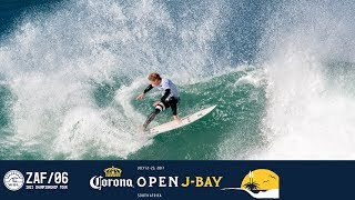 Check out John John Florence as he glides through the barrel and finishes with a impressive hack to land a perfect 10 in Round...