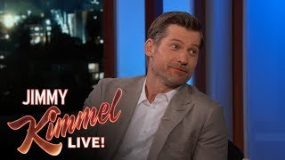 Nikolaj talks about Jon Snow's death, his home in Greenland and swaps stories with Jimmy about their daughters catching their ...