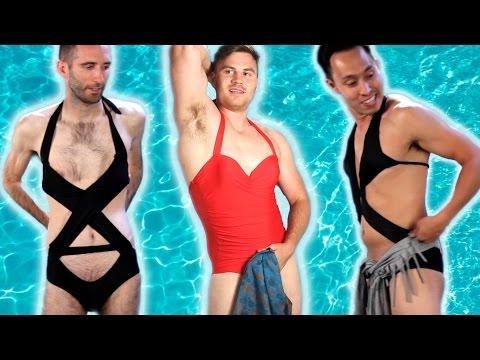 Men Try Women's Swimwear