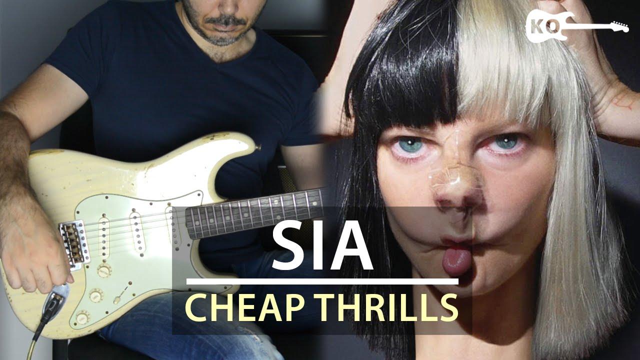 Sia – Cheap Thrills – Electric Guitar Cover by Kfir Ochaion