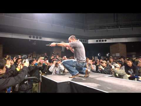 "Chris Costa Showcasing His Signature Stance At ""Costa Welcome Party"" In Japan By Peace Combat."