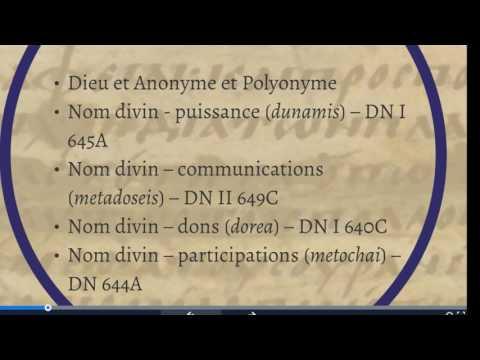 CDS, 17 mars, 2017, Séminaire philosophie: Saint Denys l'Aréopagite  4 5  Théologie des Noms divins