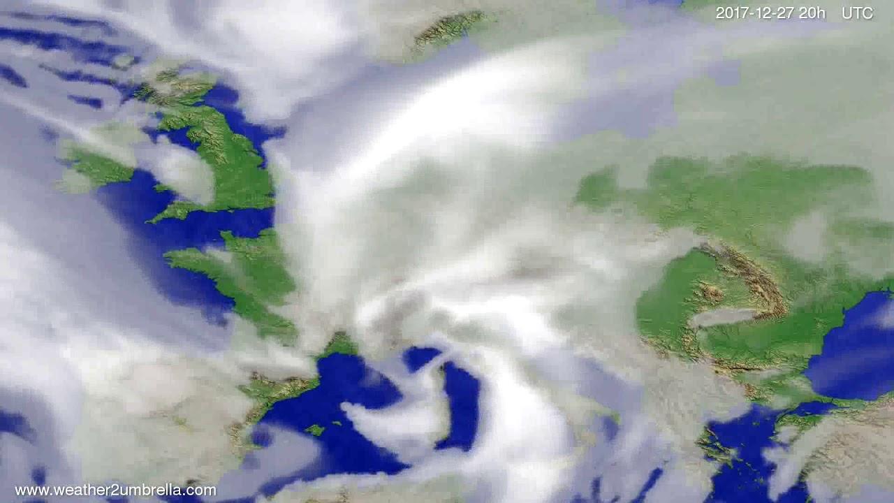 Cloud forecast Europe 2017-12-25