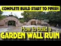 foto HOW TO BUILD A GOTHIC GARDEN WALL FOLLY, arches, wall fountain, arrow slots, windows (21 DAY BUILD)