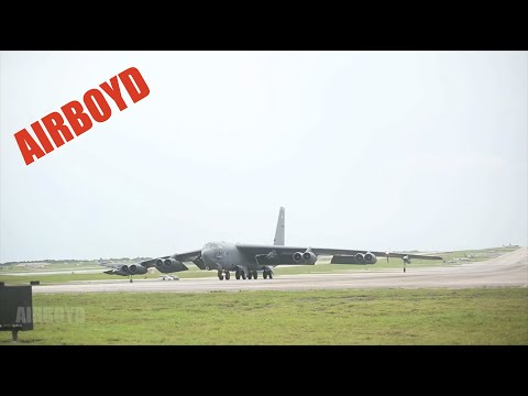 Field - Video by Cpl. Lena Wakayama III Marine Expeditionary Force / Marine Corps Installations Pacific U.S. aircraft land after conducting aerial training Sept. 17 from Andersen Air Base, Guam, during...