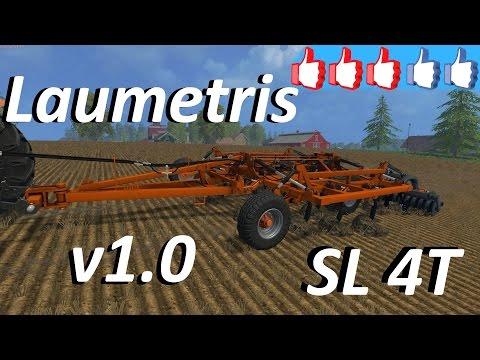 Laumetris trailed arrow type harrow cultivator SL-4T v1