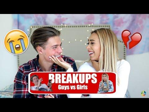 BREAKUPS   Guys Vs Girls  (with MyLifeAsEva)