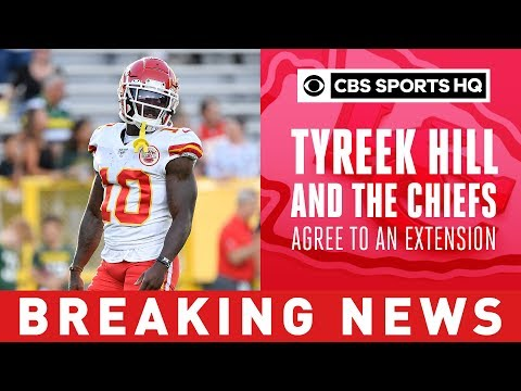 Video: Tyreek Hill And The Chiefs Agree To An Extension Worth $54,000,000 | Breaking News | CBS Sports HQ