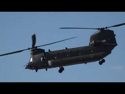 Boeing CH-47 Chinook helicopter...