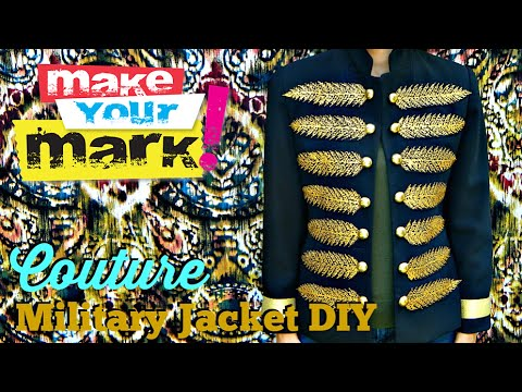 Couture Military Jacket DIY