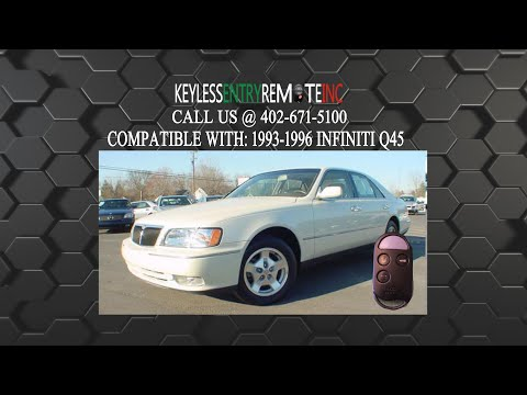 How To Replace Infiniti Q45 Key Fob Battery 1993 1994 1995 1996
