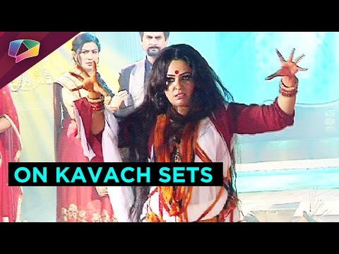 we give you a sneak peek into the sets of Kavach�