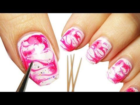 water marble nail art senza acqua!