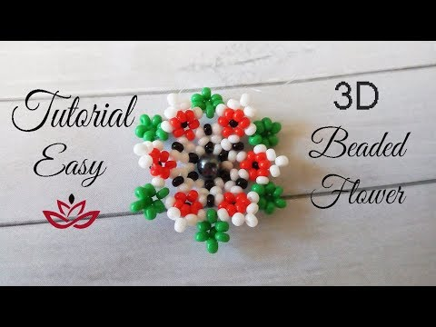 3D Beaded Flower - Tutorial (part 1)