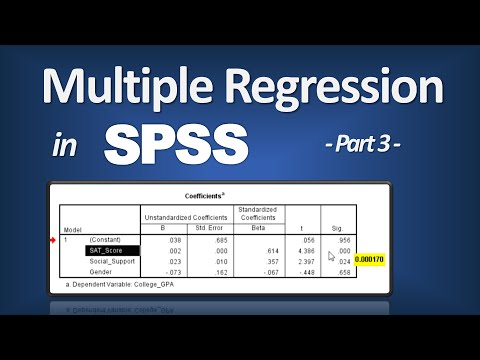 Multiple Regression in SPSS - R Square; P-Value; ANOVA F; Beta (Part 3 of 3)