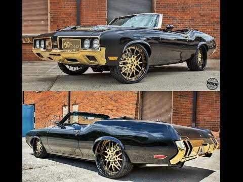 Cam Newton's Oldsmobile 442 on 24kt Gold 24