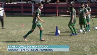 Santa Cruz do Rio Pardo: projeto ensina meninas a jogar futebol