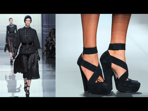 multiple heels and shoes - For Fall, designers at Paris Fashion Week showcased ankle-strap shoes in a wide array of colors and styles. The heels at Christian Dior looked like they came...