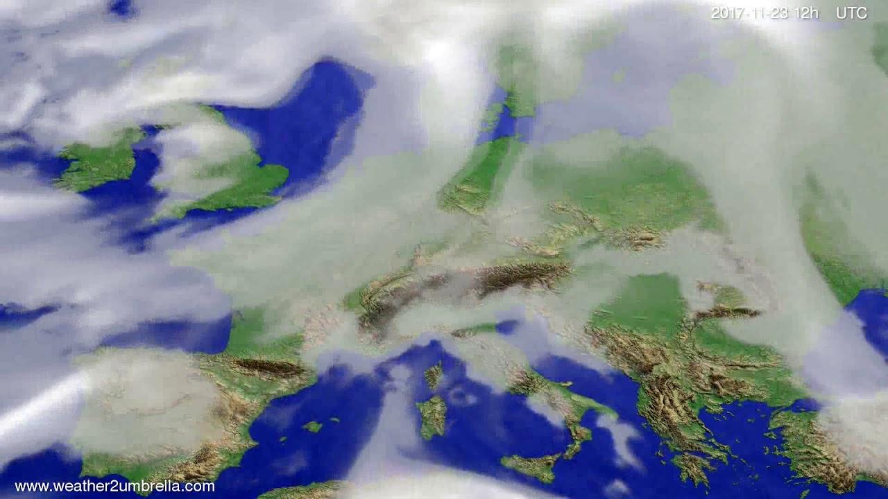 Cloud forecast Europe 2017-11-21