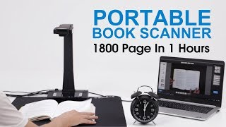 High Optical Resolution High Speed USB Interface Book Scanner youtube video