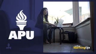 American Public University: Throughout your time as an online student, you will hear many tips related to how to be successful in your online classes. At the start of each course, I share a checklist with my students. These are tips that probably seem obvious after hearing them but might be initially overlooked in the excitement of starting a new class. In this vlog, APU faculty member Elizabeth Gray shares a few of the most critical points from that list for students to consider during their first week of class.Ready to get started as an online student?  For more information on American Public University's degree programs, visit us at http://www.studyatapu.com